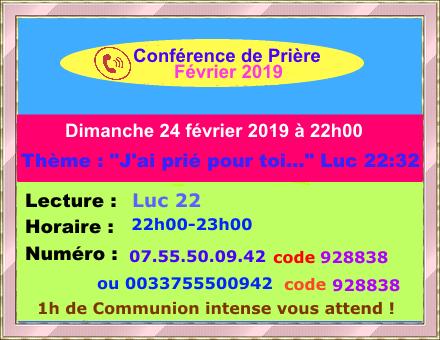 Conférence de prière