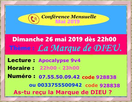 Conférence Téléphonique Mensuelle