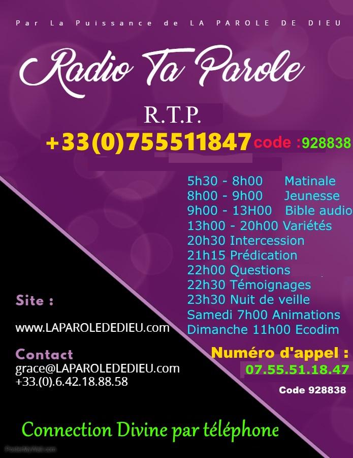 Radio Ta Parole : Diffusion émission Chrétienne Evangélique