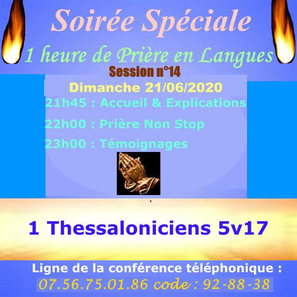 1 heure de Prière en Langues non stop