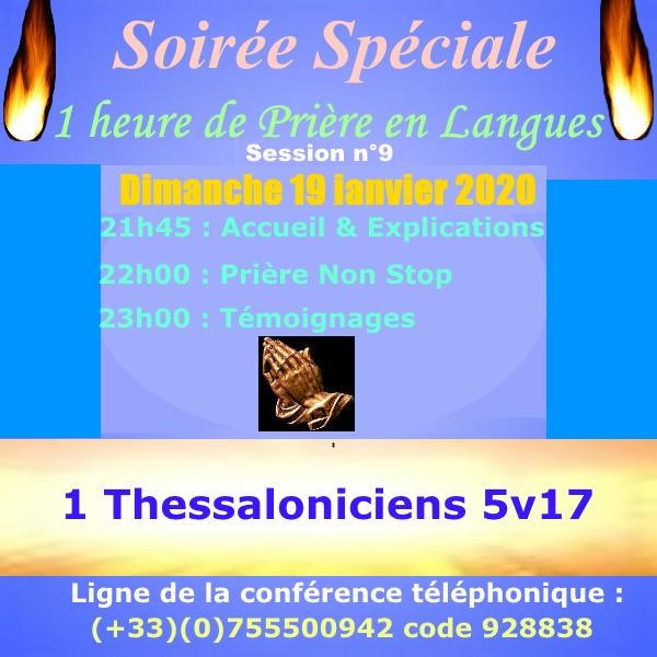 1 heure de Prière en Langues